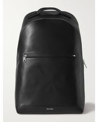 Paul Smith Embossed Leather Backpack - Black