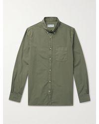 Officine Generale - Arsene Button-down Collar Cotton-poplin Shirt - Lyst