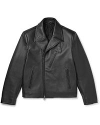 Brioni - Full-grain Leather Biker Jacket - Lyst
