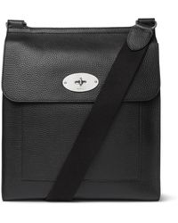 Mulberry Antony Full-grain Leather Messenger Bag - Black