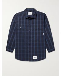 WTAPS Checked Coolmax Cotton-blend Ripstop Overshirt - Blue