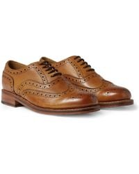 Grenson Stanley Leather Wingtip Brogues - Brown