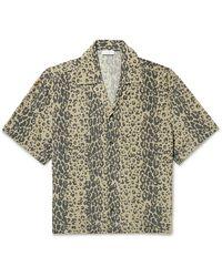 Deveaux Resort Camp-collar Leopard-print Silk Shirt - Brown