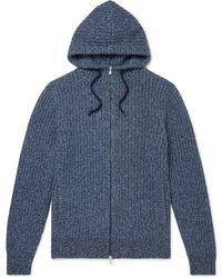 Brunello Cucinelli Cashmere Zip-up Hoodie - Blue