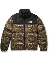 The North Face 1996 Nuptse Camouflage Quilted Shell Down Jacket - Green