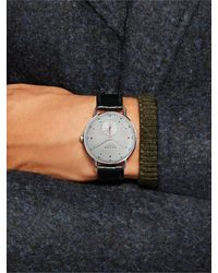 Nomos Glashütte At Work Metro Neomatik Automatic 39mm Stainless Steel And Leather Watch, Ref. No. 1115 - Metallic