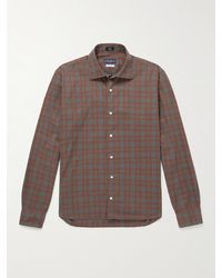 Peter Millar Checked Cotton Shirt - Brown