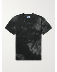 The Real McCoys Tie-dyed Cotton-jersey T-shirt - Black