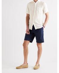 Incotex Garment-dyed Linen Shirt - White