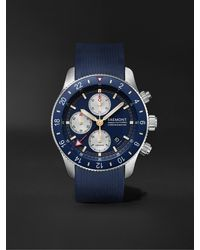 Bremont Supermarine Sport Automatic Chronograph 43mm Stainless Steel And Rubber Watch - Blue