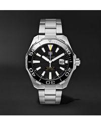 Tag Heuer Aquaracer Automatic 43mm Steel Watch, Ref. No. Way201a.ba0927 - Black