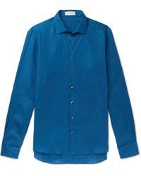 Etro - Linen Shirt - Lyst