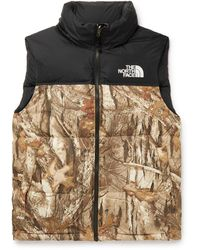 The North Face 1996 Retro Nuptse Slim-fit Camouflage-print Shell Down Gilet - Brown