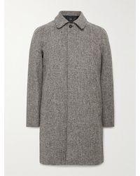 A.P.C. Ivan Herringbone Wool-tweed Coat - Grey