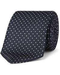 Turnbull & Asser 8cm Polka-dot Silk Tie - Blue