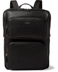 Smythson Full-grain Leather Backpack - Black