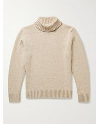 Inis Meáin Donegal Merino Wool And Cashmere-blend Rollneck Jumper - Natural