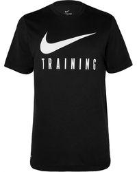 Nike Logo-print Dri-fit T-shirt - Black