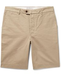 Julian Slub Cotton And Linen-blend Shorts Officine Generale rtwUT