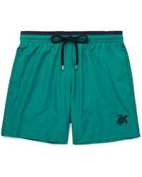 Vilebrequin - Mokami Slim-fit Mid-length Embroidered Swim Shorts - Lyst