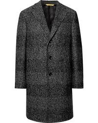 Canali - Kei Prince Of Wales Checked Wool-blend Overcoat - Lyst