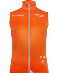 Pas Normal Studios Winter Cycling Gilet - Orange