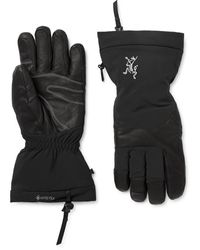 Arc'teryx Fission Sv Gore-tex And Leather Gloves - Black