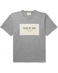 Fear Of God Logo Print T-shirt - Grey