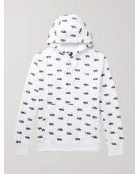 Nike Logo-print Fleece-back Cotton-blend Jersey Hoodie - White