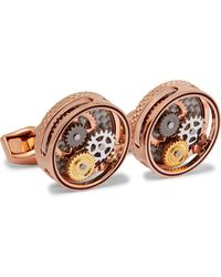 Tateossian Gear Rose Gold-plated Cufflinks - Multicolour