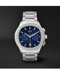 Piaget Polo S Automatic Chronograph 42mm Stainless Steel Watch, Ref. No. G0a42005 - Metallic