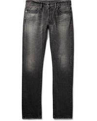The Workers Club Slim-fit Raw Selvedge Denim Jeans - Black