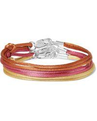 Rubinacci Set Of Three Silk Bracelets - Orange