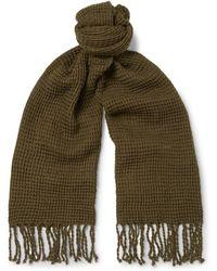 J.Crew - Waffle-knit Cotton Scarf - Lyst