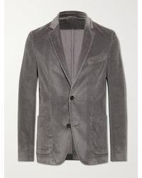 Officine Generale Slim-fit Unstructured Cotton-blend Corduroy Blazer - Grey