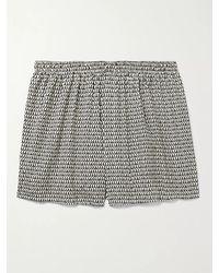 Sunspel Printed Cotton Boxer Shorts - Black