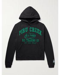 Reese Cooper Printed Cotton-jersey Hoodie - Black