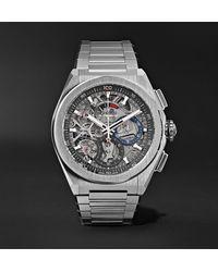 Zenith Defy El Primero 21 Chronograph 44mm Brushed-titanium Watch - Metallic