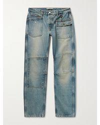 Reese Cooper Patchwork Distressed Denim Jeans - Blue