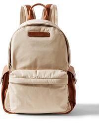 Brunello Cucinelli Leather-trimmed Nylon Backpack - Multicolor