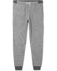 J.Crew | Slim-fit Tapered Mélange Fleece-back Cotton-blend Jersey Joggers | Lyst