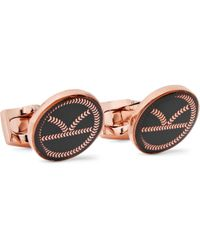Kingsman - + Deakin & Francis Rose Gold-tone And Resin Cufflinks - Lyst