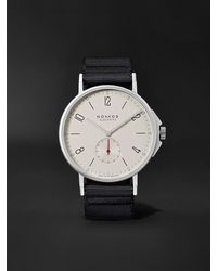 Nomos Glashütte Ahoi Automatic 40mm Stainless Steel And Nylon Watch, Ref. No. 550 - White