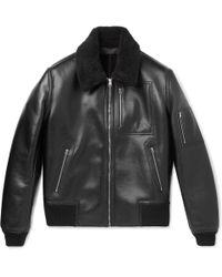 Stella McCartney - Liam Faux Leather Bomber Jacket - Lyst