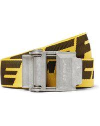 Off-White c/o Virgil Abloh - 3.5cm Yellow 2.0 Industrial Logo-jacquard Webbing Belt - Lyst