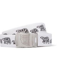 Human Made Printed Webbing Belt - White