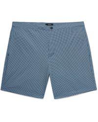 Theory - Slim-fit Mid-length Printed Swim Shorts - Lyst