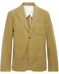 Alex Mill Mercer Cotton-blend Moleskin Suit Jacket - Brown