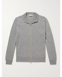 Brunello Cucinelli Cashmere Zip-up Sweater - Grey