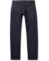 Moncler Genius 7 Moncler Fragment Embroidered Selvedge Denim Jeans - Blue